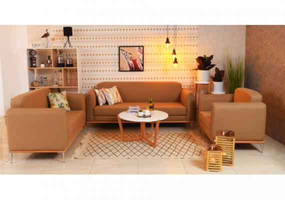 Créez la surprise dans votre pièce avec notre salon moderne et robuste grâce à ses piétements en inox