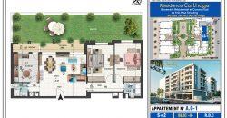 Appartement S+2 les jardin de carthage