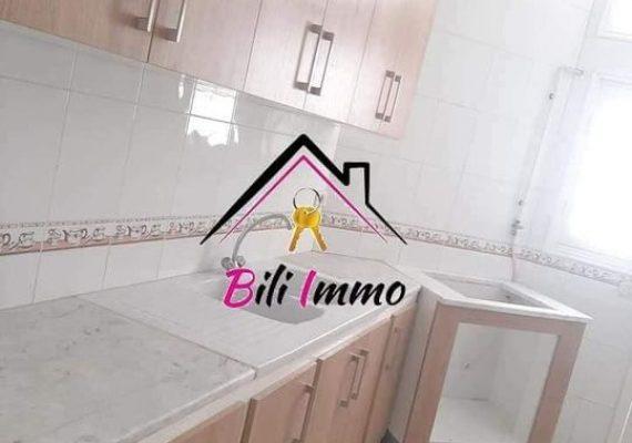 Agence Bili Immobilière vous propose un grand appartement s+2 avec parking sous sol.