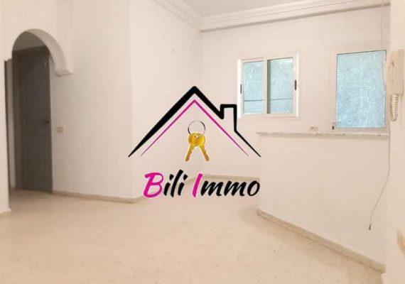 Agence bili Immobilière vous propose un petit appartement s+2 sans meubles pour location annuelle
